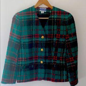 Vintage Pendleton Wool Christmas Plaid Blazer